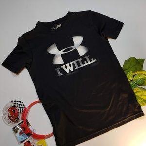 4/$25 Under Armour Dri-Fit Boys Black Shirt